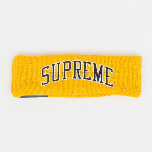 New Era Sequin Arc Logo Headband in Gold