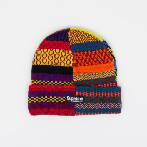 Multi Pattern Beanie - Multi