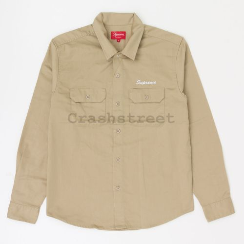 Mike Kelley/Supreme Ahh Youth Work Shirt - Tan