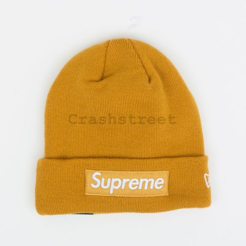 New Era Box Logo Beanie in Mustard