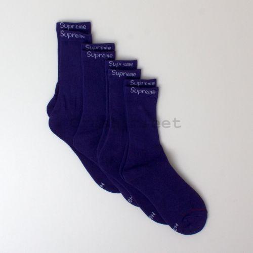 Hanes Crew Socks (4 Pack) Purple  in Purple
