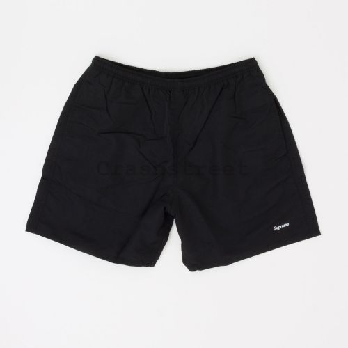 Nylon Water Short in Black