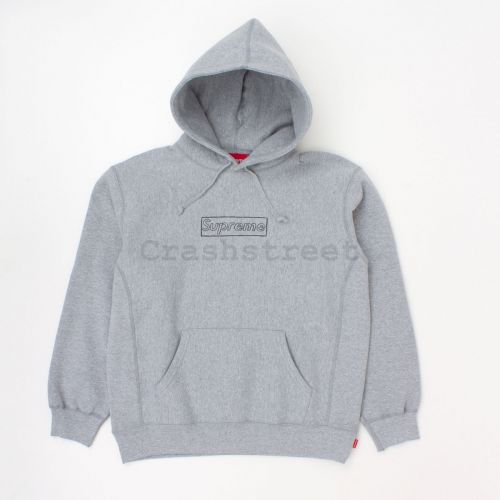 Kaws Chalk Logo Hooded Sweatshirt in Grey