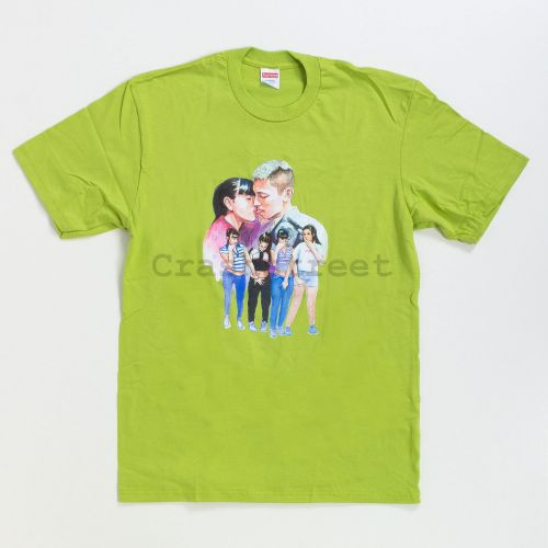 Kiss Tee in Lime