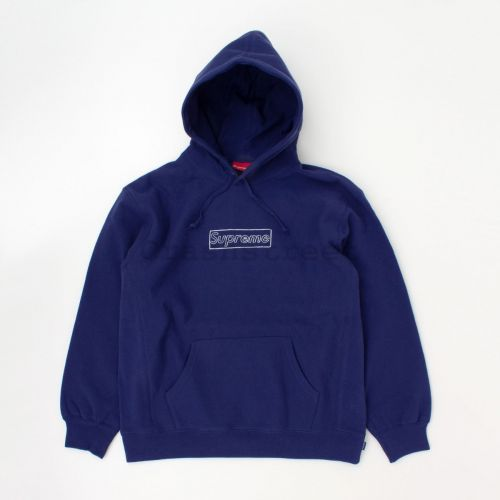 Kaws Chalk Logo Hooded Sweatshirt in Navy
