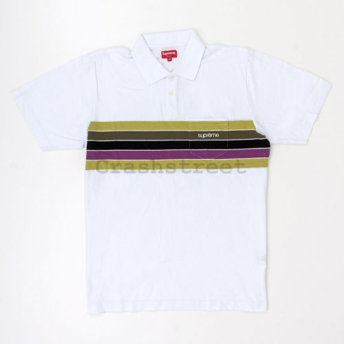 Chest Stripes Polo in White