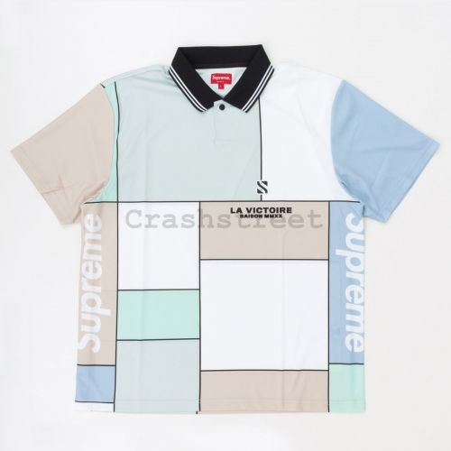 Colorblocked Soccer Polo in Grey