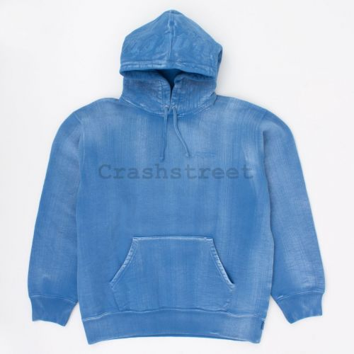 Brush Stroke Hooded Sweatshirt in Royal