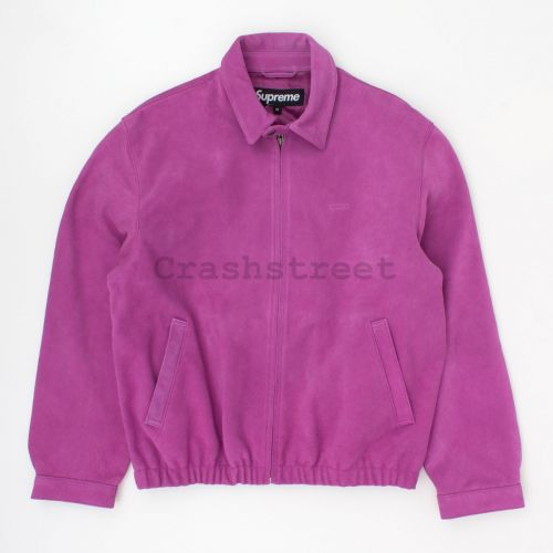 Suede Harrington Jacket in Purple