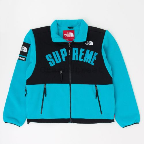 The North Face Arc Logo Denali Fleece Jacket in Blue