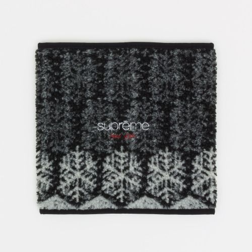 Snowflake Neck Gaiter - Black