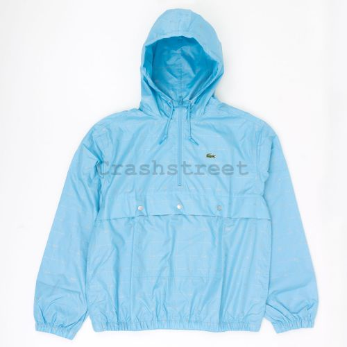 Lacoste Reflective Grid Anorak in Blue