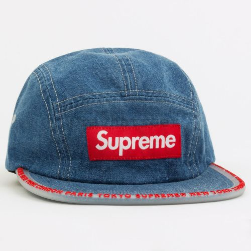 Worldwide Visor Tape Camp Cap in Denim