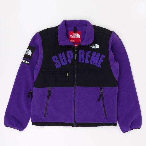 The North Face Arc Logo Denali Fleece Jacket in Purple