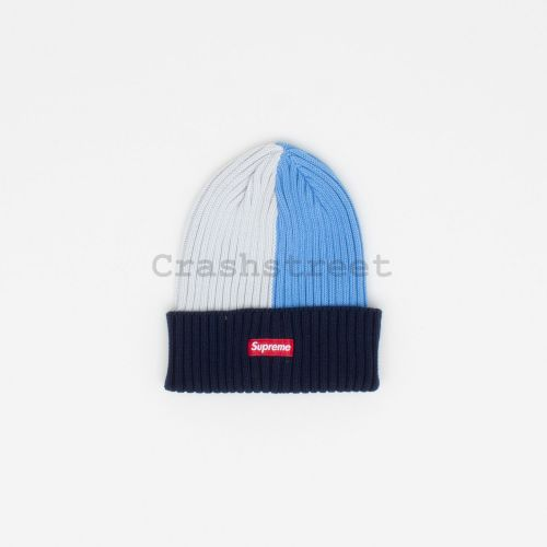 Overdyed Beanie in Navy / White