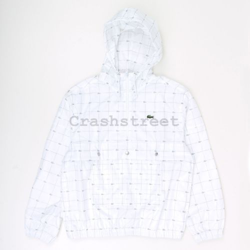 Lacoste Reflective Grid Anorak in White
