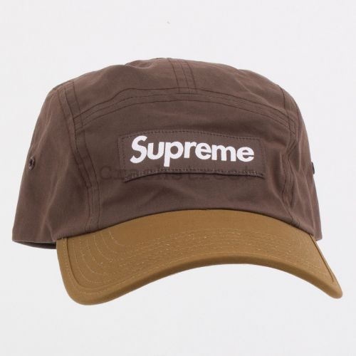 Waxed Cotton Camp Cap in Brown