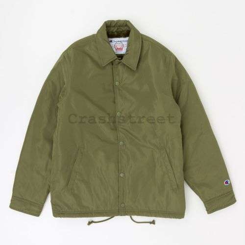 Champion Label Coaches Jacket in Olive