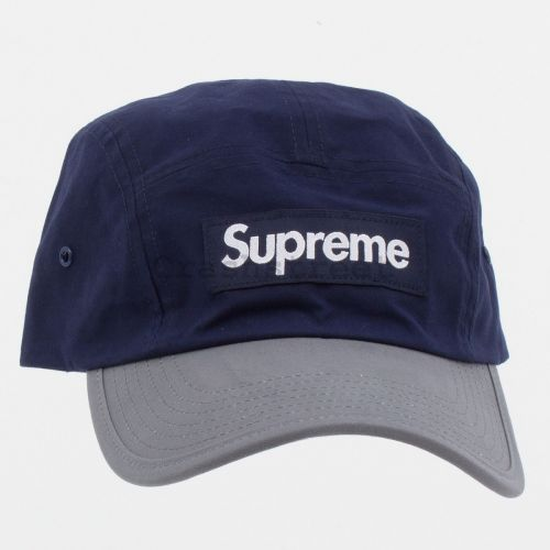 Waxed Cotton Camp Cap in Navy