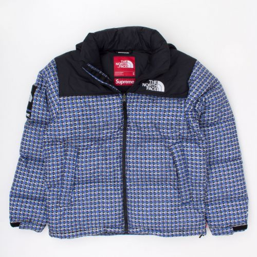 TNF Studded Nuptse Jacket in Blue