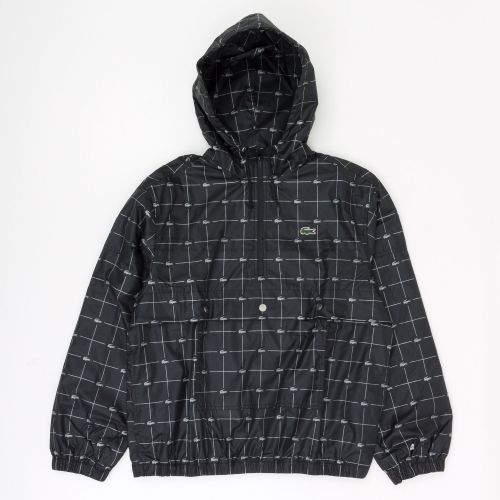 Lacoste Reflective Grid Anorak in Black