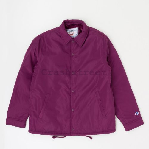 Champion Label Coaches Jacket in Purple