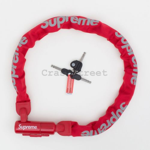 Kryptonite Integrated Chain Lock in Red