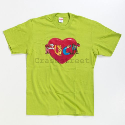 Fuck Love Heart Tee in Lime