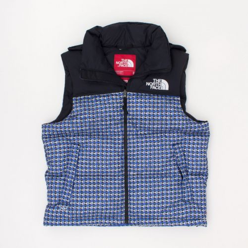 TNF Studded Nuptse Vest in Blue