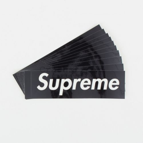 Clear Vinyl Box Logo Sticker (set of 10) in Black