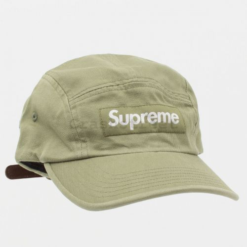 Washed Chino Twill Camp Cap (SS21) in Olive