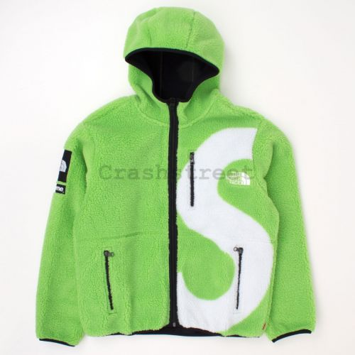 The North Face S Logo Hooded Fleece Jacket - Lime