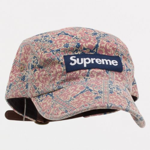 Washed Chino Twill Camp Cap (fw21) in Floral
