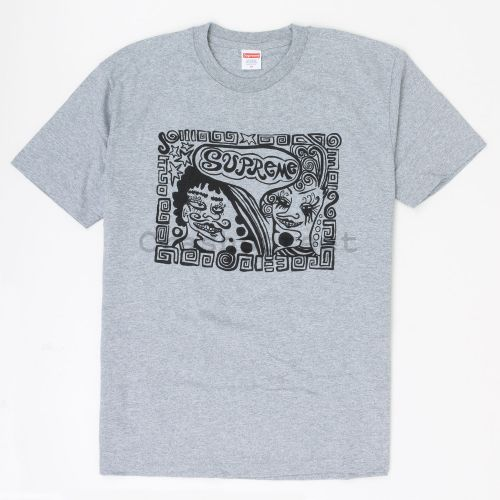 Faces Tee in Grey