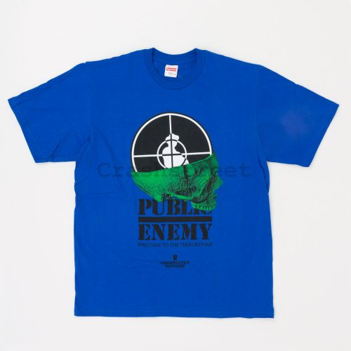 Undercover/Public Enemy Terrordome Tee in Blue