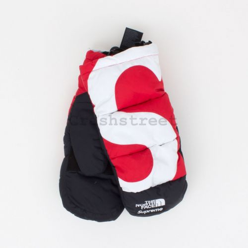 The North Face S Logo Nuptse Mitts - Red