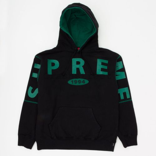 Spread Logo Hooded Sweatshirt - Black
