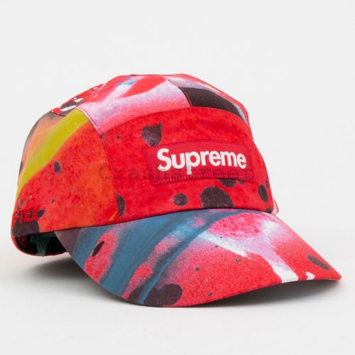GORE-TEX Long Bill Camp Cap in Red Multi