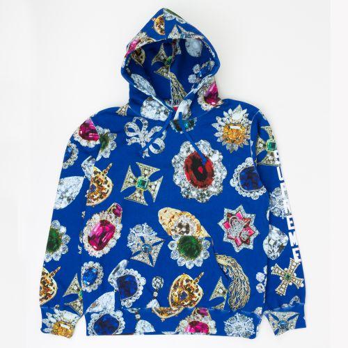 Jewels Hooded Sweatshirt in Navy