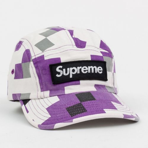 Military Camp Cap in Purple Digital
