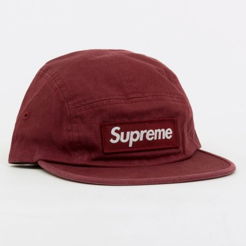 Military Camp Cap in Maroon