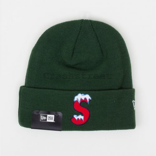 New Era S Logo Beanie - Green