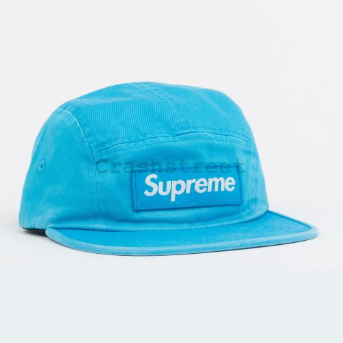 Washed Chino Twill Camp Cap in Blue