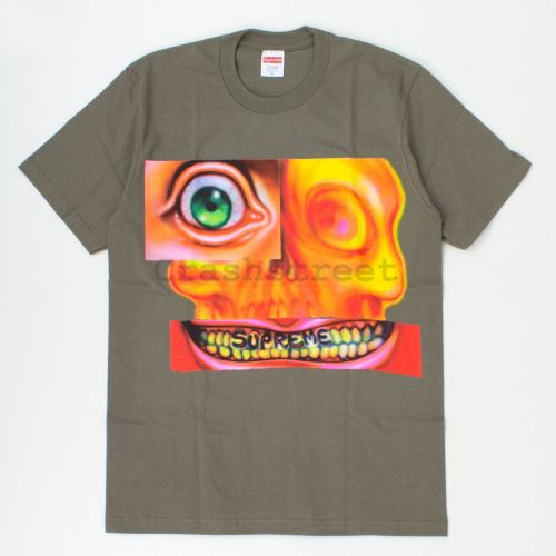 Face Tee in Olive