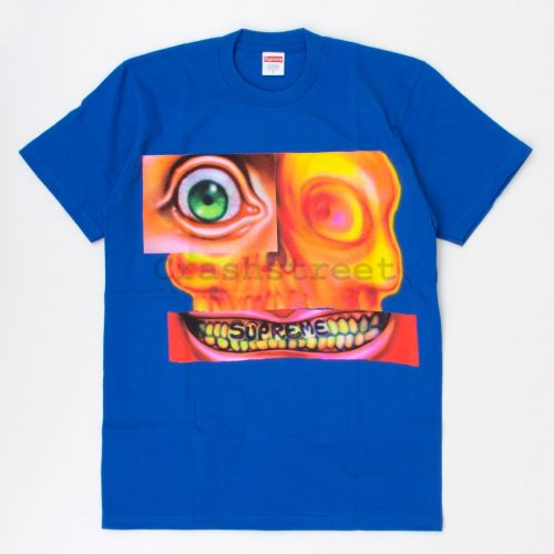 Face Tee in Royal