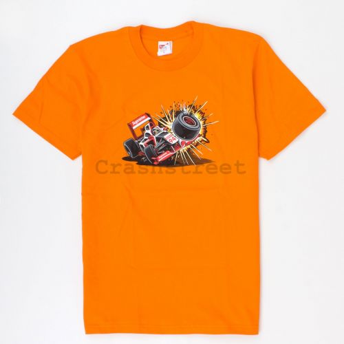 Crash Tee in Orange
