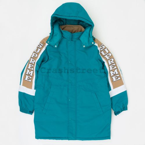 Sleeve Logo Sideline Parka in Teal