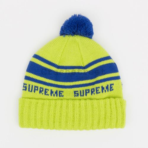Classic Stripe Beanie in Green