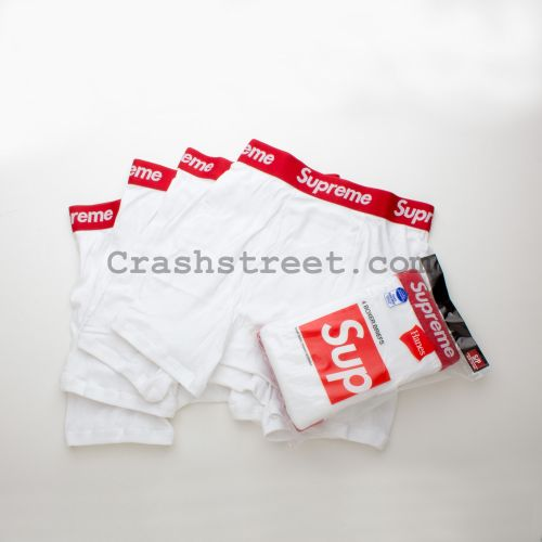 Supreme Hanes Boxer Briefs (4 Pack) in White