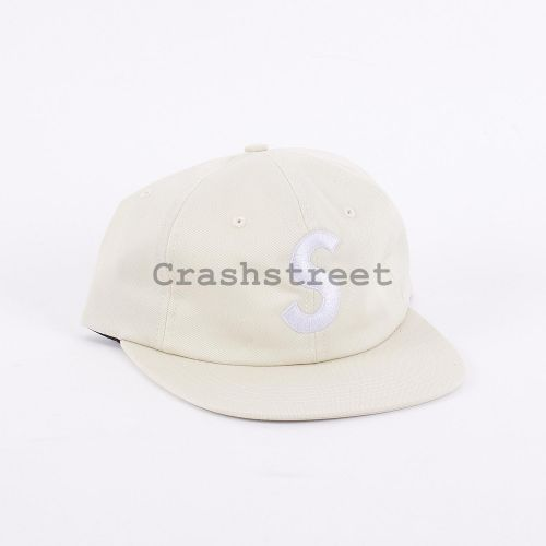 S Logo 6-Panel in White